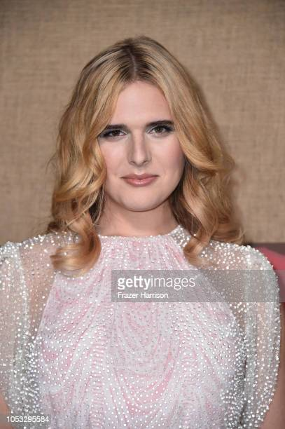 """Hari Nef attends the Los Angeles premiere of the HBO Series """"Camping"""" at Paramount Studios on October 10, 2018 in Hollywood, California."""