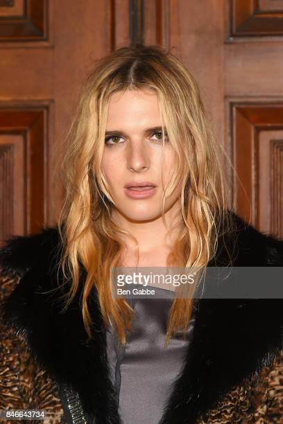 Hari Nef attends the Marc Jacobs Fashion Show during New York Fashion Week at Park Avenue Armory on September 13 2017 in New York City