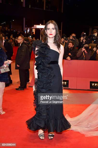 Hari Nef, wearing Gucci, attends the 'Django' premiere during the 67th Berlinale International Film Festival Berlin at Berlinale Palace on February...