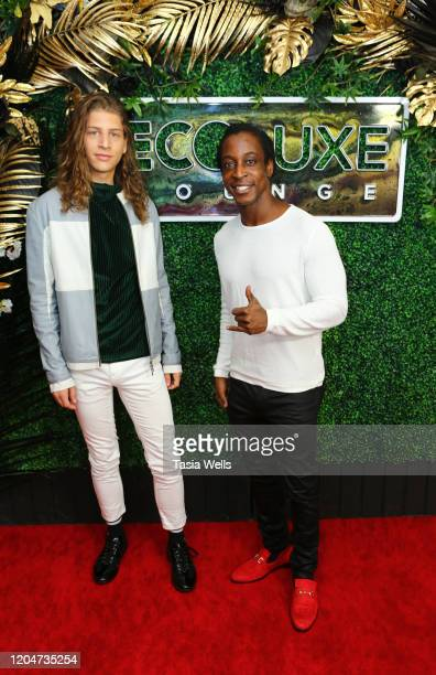 Hari Tahov and Shaka Smith attend Debbie Durkin's EcoLuxe Lounge Honoring Film Award Nominees 2020 at The Beverly Hilton Hotel on February 07 2020 in...