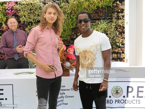 Hari Tahov and Shaka Smith attend Debbie Durkin's EcoLuxe Lounge TV Awards at The Beverly Hilton Hotel on September 20 2019 in Beverly Hills...