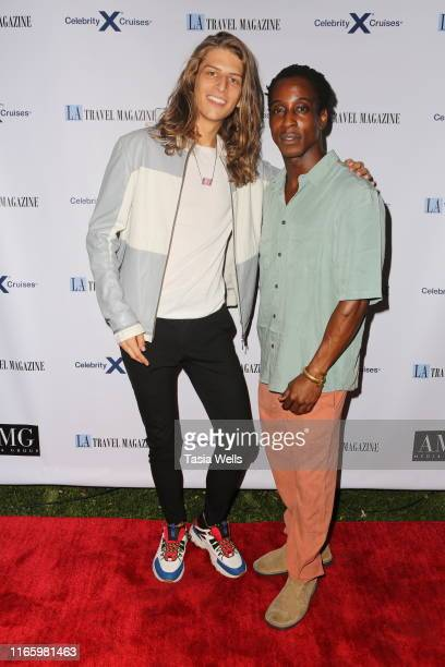 Hari Tahov and Shaka Smith attend Los Angeles Travel Magazine's Endless Summer Issue Release Party at Penthouse on August 02, 2019 in West Hollywood,...