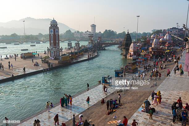CONTENT] Haridwar India 29 November 2013 Indian people congregates at Har Ki Pauri Ghat Haridwar and hindu pilgrims takes holy dips in Ganges river...