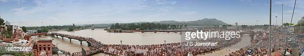 haridwar-panorama - haridwar stock pictures, royalty-free photos & images