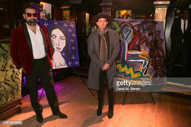 Harif Guzman and Danny Minnick attend the International Day of the Girl Child Charity Event At The Original Annabel's hosted by The Bardou Foundation...