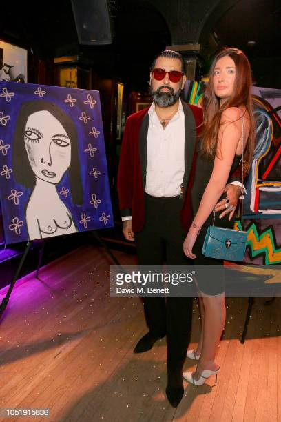 Harif Guzman and Sabine Wilson attend the International Day of the Girl Child Charity Event At The Original Annabel's hosted by The Bardou Foundation...