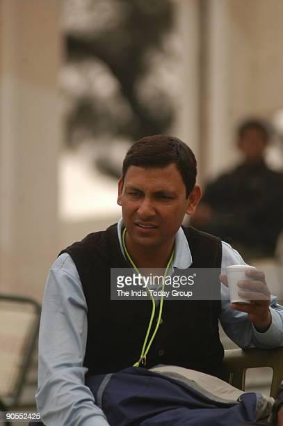 Harinder Singh hockey coach of junior Indian team at the Shivaji Stadium New Delhi during Nehru hockey tournament