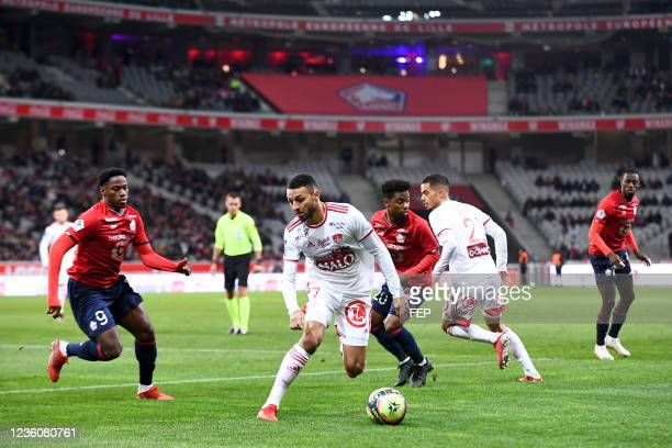 Haris BELKEBLA during the Ligue 1 Uber Eats match between Lille and Brest at Stade Pierre Mauroy on October 23, 2021 in Lille, France.