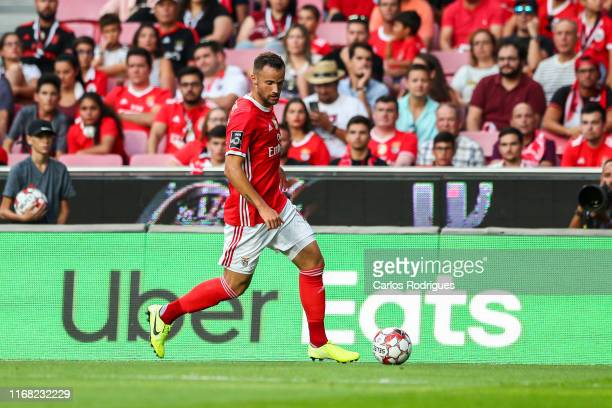Haris Seferovic of SL Benfica during the Liga NOS round five match between SL Benfica and Gil Vicente FC at Estadio da Luz on September 14 2019 in...