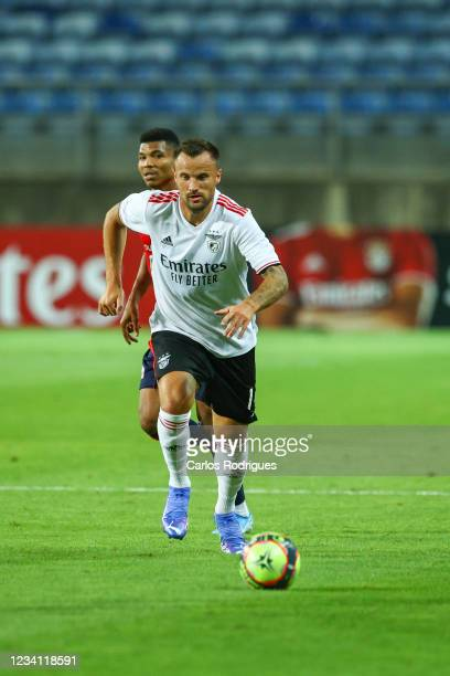Haris Seferovic of SL Benfica during the Pre-Season Friendly match between SL Benfica and Lille at Estadio Algarve on July 22, 2021 in Faro, Portugal.