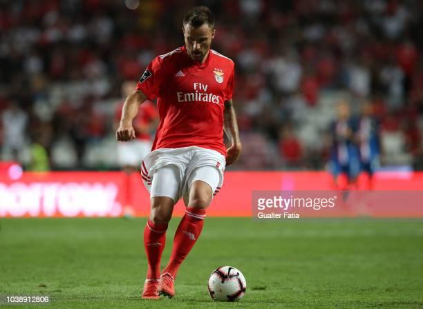 Haris Seferovic of SL Benfica in action during the Liga NOS match between SL Benfica and CD Aves at Estadio da Luz on September 23 2018 in Lisbon...