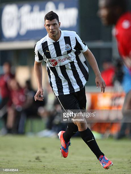 Haris Vuckic of Newcastle United during a pre season friendly match between Newcastle United and AS Monaco at the HackerPschorr Sports Park on July...