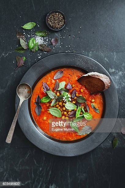 Harissa soup with potato and chickpeas