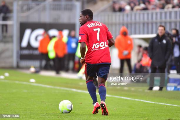 Harisson Manzala of Amiens during the Ligue 1 match between Amiens SC and Olympique Lyonnais at Stade de la Licorne on December 10 2017 in Amiens...