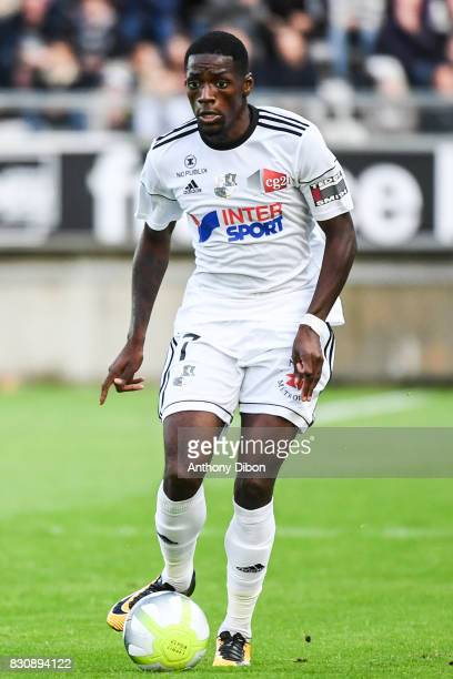 Harisson Manzala Tusungama of Amiens during the Ligue 1 match between Amiens SC and Angers SCO at Stade de la Licorne on August 12 2017 in Amiens