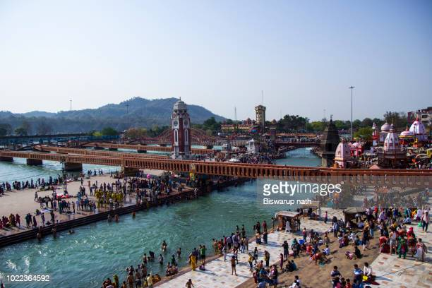 har-ki-pauri ghat - haridwar stock pictures, royalty-free photos & images