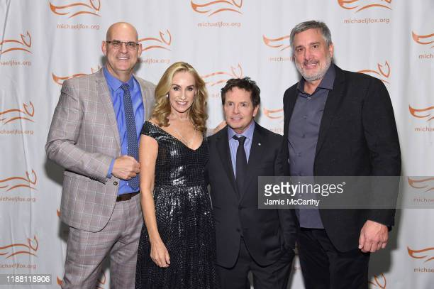 Harlan Coben Tracy Pollan Michael J Fox and Cam Neely attend A Funny Thing Happened On The Way To Cure Parkinson's benefitting The Michael J Fox...