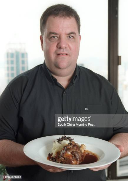 Harlan Goldstein executive chef of the Aberdeen Marina Club displays his hearty dish of slowcooked lamb shanks with truffled mashed potatoes at his...