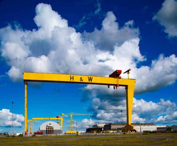 Harland and Wolff cranes in Titanic Quarter Belfast