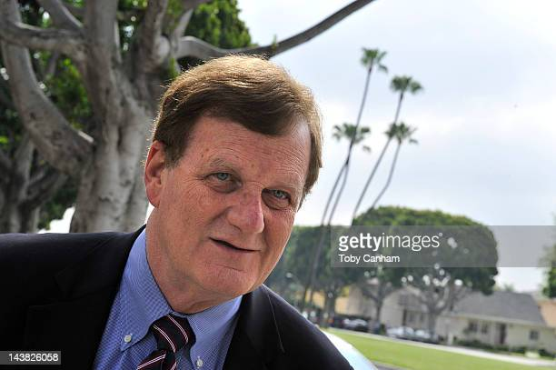 Harland Braun, Lane Garrison's attorney, talks to the media at Beverly Hills Courthouse on May 4, 2012 in Beverly Hills, California. Garrison was...