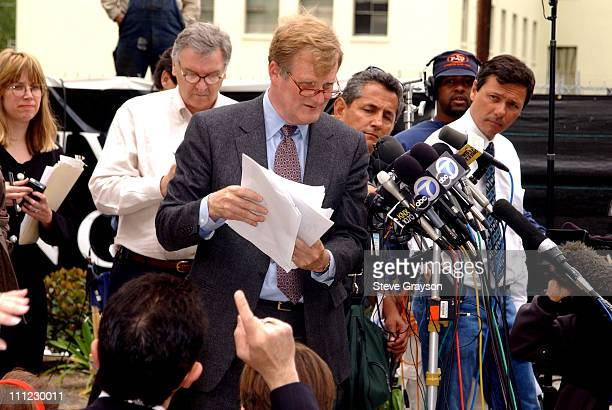 Harland W Braun attorney for actor Robert Blake talks to reporters after a court hearing May 1 2002 in Los Angeles Superior Court The hearing was...
