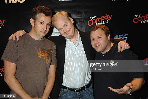 Harland Williams Jim Gaffigan and Frank Caliendo during HBO AEG Live's 'The Comedy Festival' Triumph the Insult Comic Dog's Poopapalooza II at...
