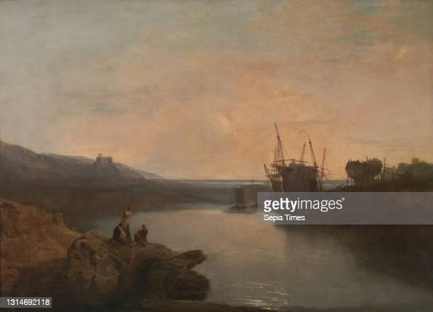 Harlech Castle, from Tygwyn Ferry, Summer's Evening Twilight, Joseph Mallord William Turner, 1775–1851, British Oil on canvas, Support : 34 1/4 x 47...