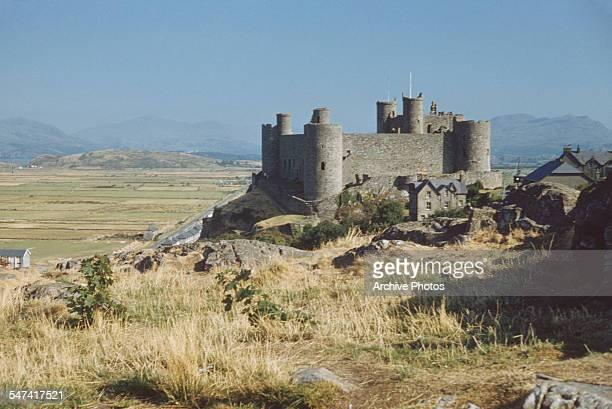 Harlech Castle in Harlech Gwynedd Wales circa 1965