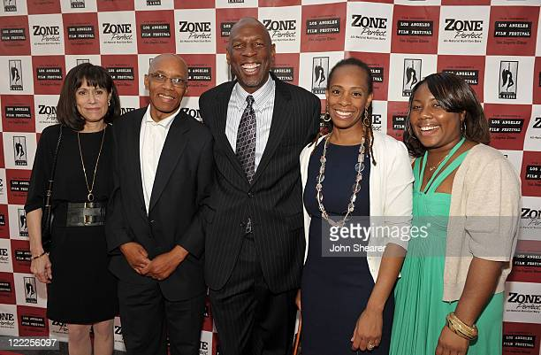 """Harlem Children's Zone CEO Geoffrey Canada and guests attend the """"Waiting For Superman"""" gala screening during the 2010 Los Angeles Film Festival at..."""