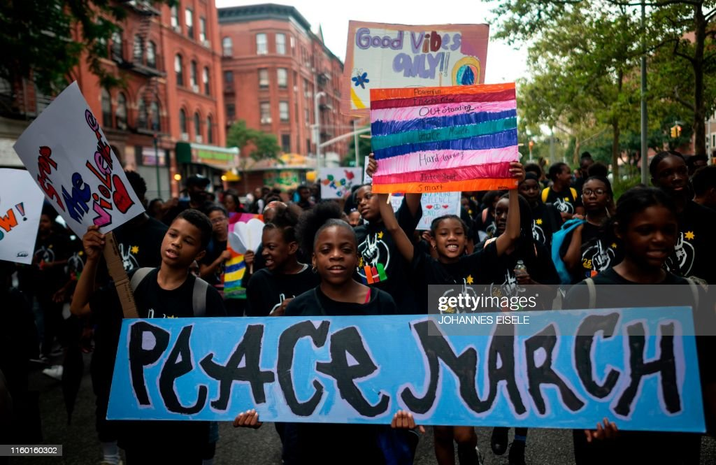 TOPSHOT-US-CHILDREN-PEACE-march : News Photo