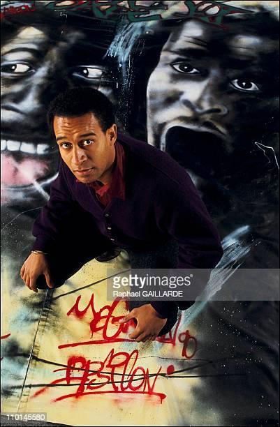 Harlem Desire president of SOS Racism in France on Octorber 28 1990