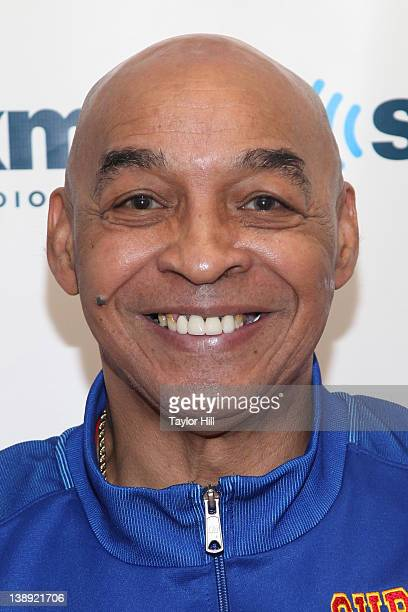 Harlem Globetrotter Fred Curly Neal visits SiriusXM Studio on February 13 2012 in New York City