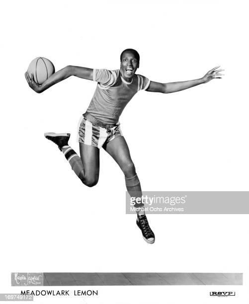 Harlem Globetrotter Meadowlark Lemon poses for a portrait in circa 1965