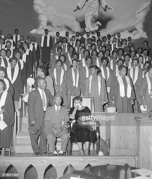 Harlem Manhattan New York New York A meeting to protest the acquittal in Mississippi of two white men accused of the murder of Emmett Louis Till a 14...