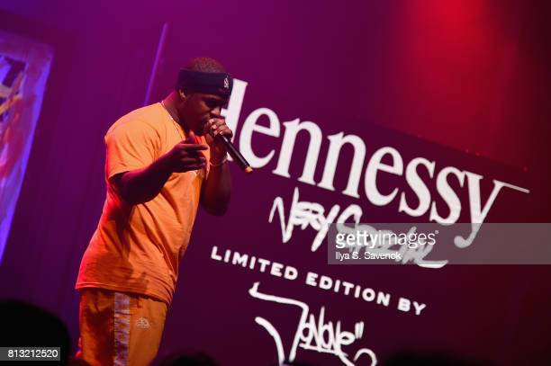 Harlem rapper A$AP Ferg performs at the Hennessy VS Limited Edition by JonOne Launch Party at Terminal 5 on July 11 2017 in New York City The Limited...