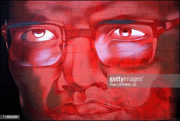 Harlem renaissance In New York United States On November 06 2000Malcolm X wall painting