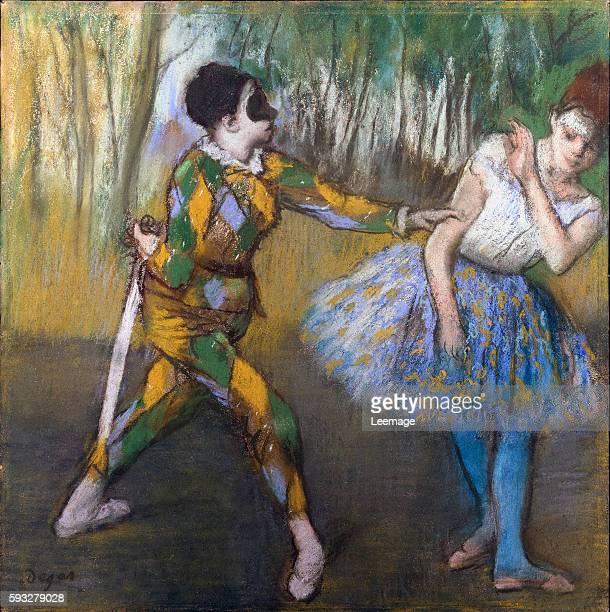 Harlequin and Columbine by Edgar Degas 1886 Pastel 41x41cm Vienna Kunsthistorisches Museum
