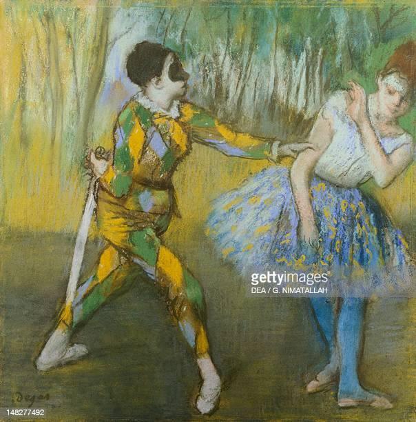 Harlequin and Columbine by Edgar Degas Vienna Kunsthistorisches Museum
