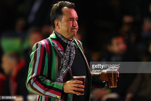 Harlequin fan is pictured during the European Rugby Challenge Cup match between Harlequins v Stade Francais Paris on October 13 2016 in London United...