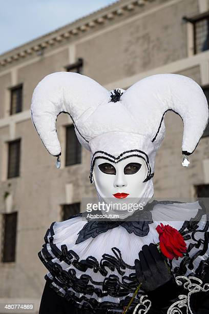 harlequin-estar, máscara de carnaval de veneza na san giorgio, itália, europa - arlequim - fotografias e filmes do acervo