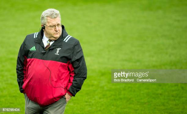 Harlequins' Head Coach John Kingston during the Aviva Premiership match between Exeter Chiefs and Harlequins at Sandy Park on November 19 2017 in...