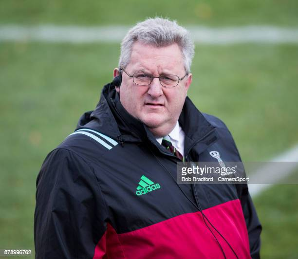 Harlequins' Head Coach John Kingston during the Aviva Premiership match between Bath Rugby and Harlequins at Recreation Ground on November 25 2017 in...