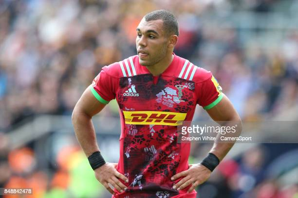 Harlequins' Joe Marchant during the Aviva Premiership match between Wasps and Harlequins at The Ricoh Arena on September 17 2017 in Coventry England