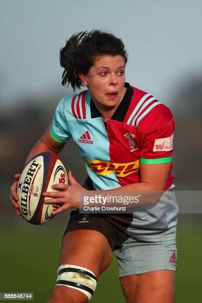 Harlequins Ladies Abbie Scott during the Tyrrells Premier 15s match between Harlequins Ladies and Wasps FC Ladies at Surrey Sports Park on December 9...