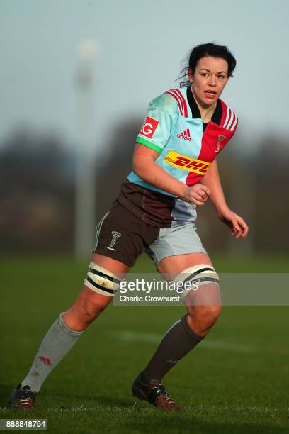 Harlequins Ladies Deborah McCormack during the Tyrrells Premier 15s match between Harlequins Ladies and Wasps FC Ladies at Surrey Sports Park on...