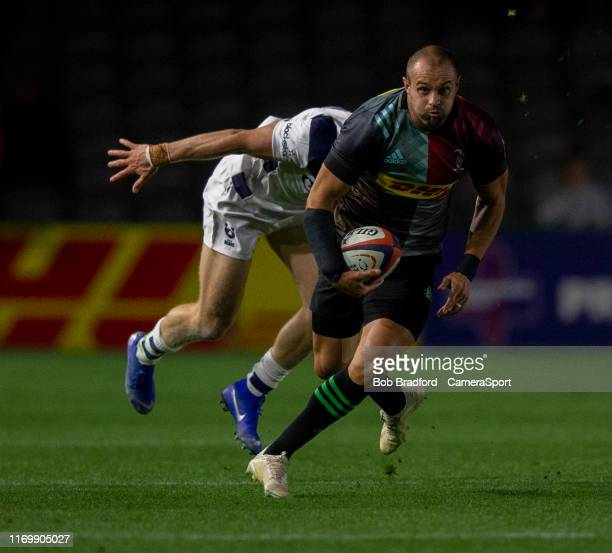 Harlequins' Ross Chisholm in action during the Premiership Rugby Cup First Round match between Harlequins and Bristol Bears at Twickenham Stoop on...