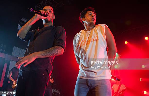 Harley Alexander Sule and Jordan Stephens of Rizzle Kicks performs at 02 academy on February 22 2014 in Birmingham England