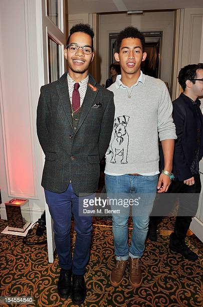 Harley AlexanderSule and Jordan Stephens of Rizzle Kicks arrive at The Q Awards 2012 at the Grosvenor House Hotel on October 22 2012 in London England
