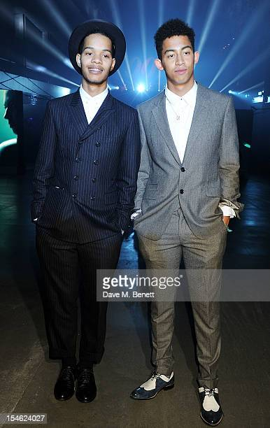Harley AlexanderSule and Jordan Stephens of Rizzle Kicks attend an after party for the Royal World Premiere of 'Skyfall' at the Tate Modern on...