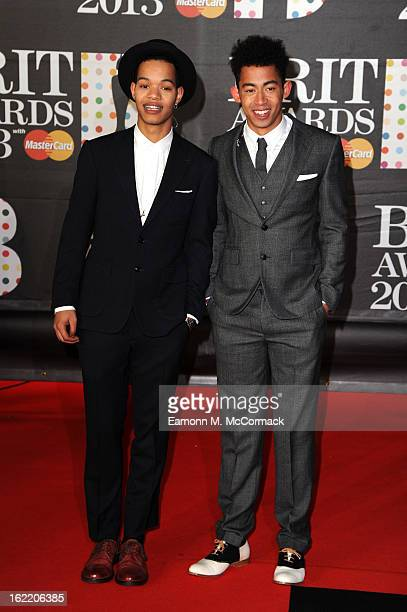 Harley AlexanderSule and Jordan Stephens of Rizzle Kicks attend the Brit Awards 2013 at the 02 Arena on February 20 2013 in London England